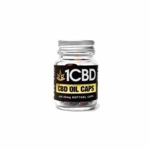 1CBD Soft Gel Capsules 25mg CBD 30 Capsules
