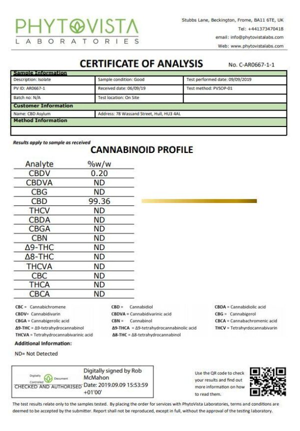 CBD Asylum 1000mg CBD Pro Oil 20ml
