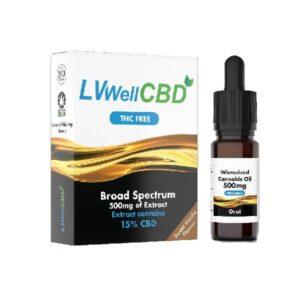 LVWell CBD 500mg Winterised 10ml Hemp Seed Oil