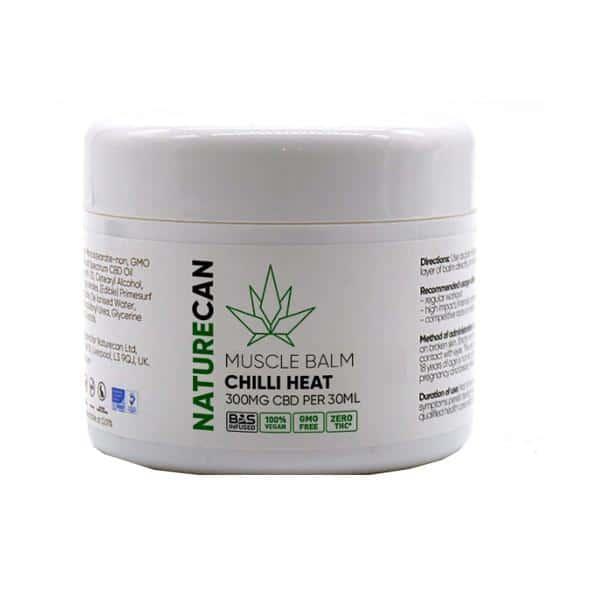 Naturecan 300mg CBD Chilli Heat Muscle Balm