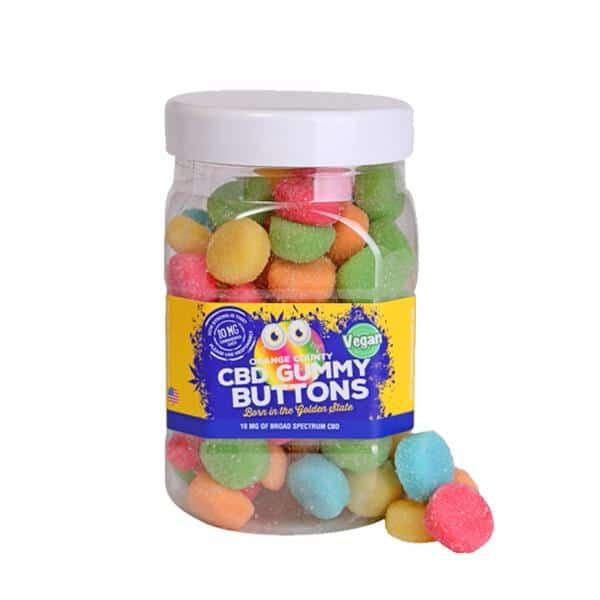 Orange County CBD 10mg Gummy Buttons - 80x 10mg