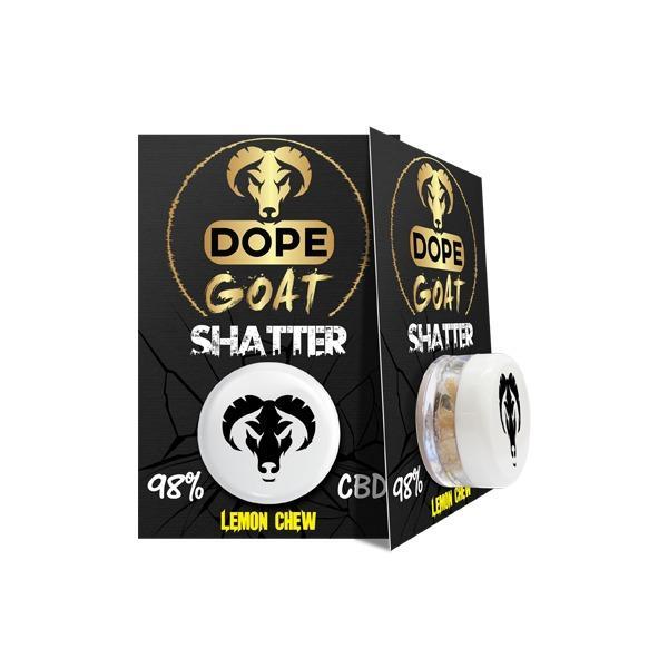 Dope Goat Shatter 98% CBD 1g