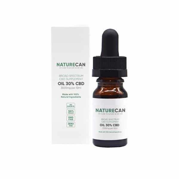 Naturecan 30% 3000mg CBD Broad Spectrum MCT Oil 10ml