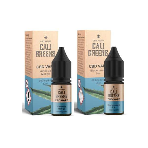 Cali Greens Vape 600mg 10ml CBD E-Liquid