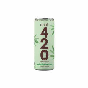 Drink 420 CBD 15mg Infused Sparkling Drink - Elderflower Lime